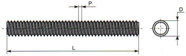 Шпилька DIN 975 1