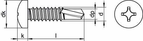 Саморез DIN 7504N 1