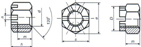 Гайка DIN 935 2