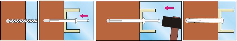 Дюбель гвоздь металлический 2
